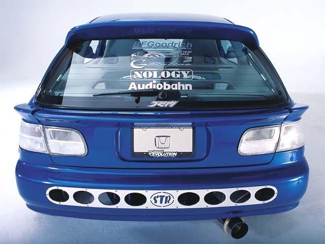Lre Zoom Honda Civic Hatchback Rear View