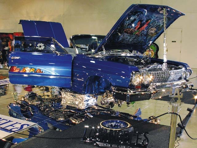 Third Place Sweepstakes winner Joel Garcia was the underdog in the race for Lowrider Car of the Year.