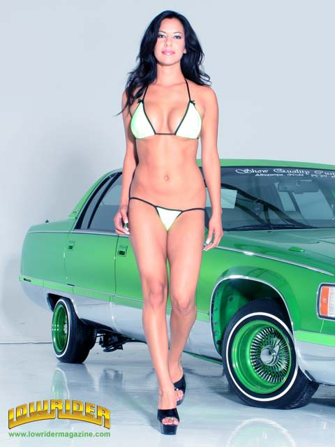 Lowrider Model Lisa Angeline Feb 2006 Lowrider Magazine