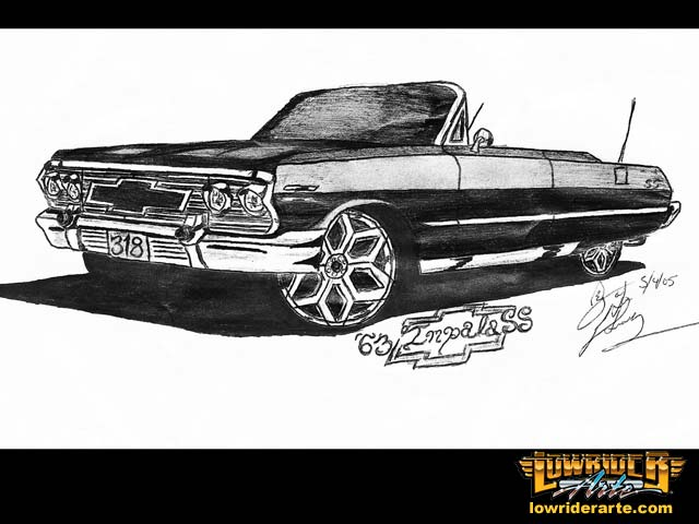 Lowrider Car Drawings, Paintings, and Pictures - Lowrider Arte Magazine