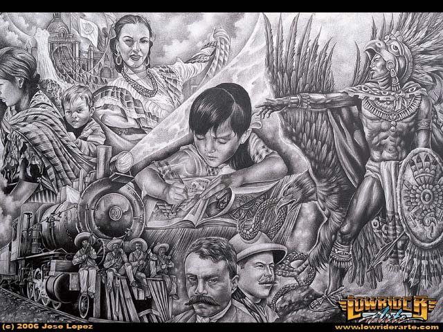 Chicano Featured Tattoo and Fine Artist Jose Lopez ...