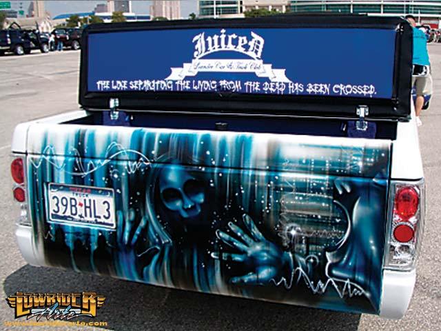 Metal tapestry car murals airbrush art and custom for Airbrush car mural