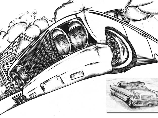 Car Drawing also How To Draw A 1957 Chevy Bel Air together with How To Draw A 1957 Chevy further Mario Coloring Pages additionally How To Draw Cars Easy Step By Step. on old chevy pencil drawings