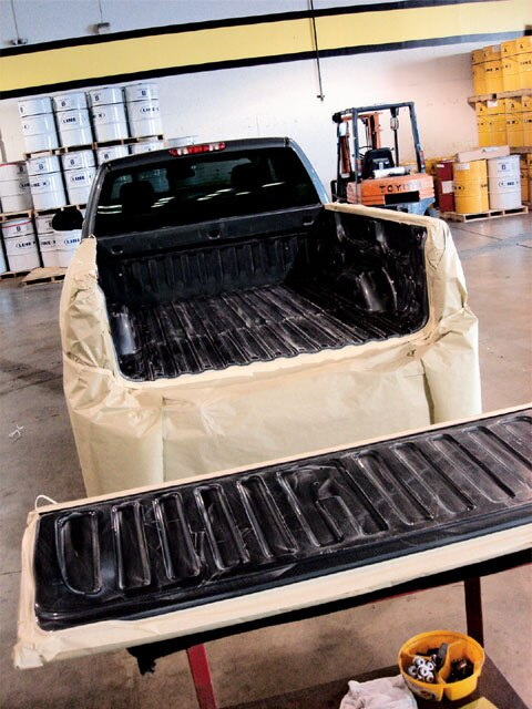 Drop In Truck Bed Liner >> Line-X Spray-On Bedliner - Product Review - Lowrider Magazine
