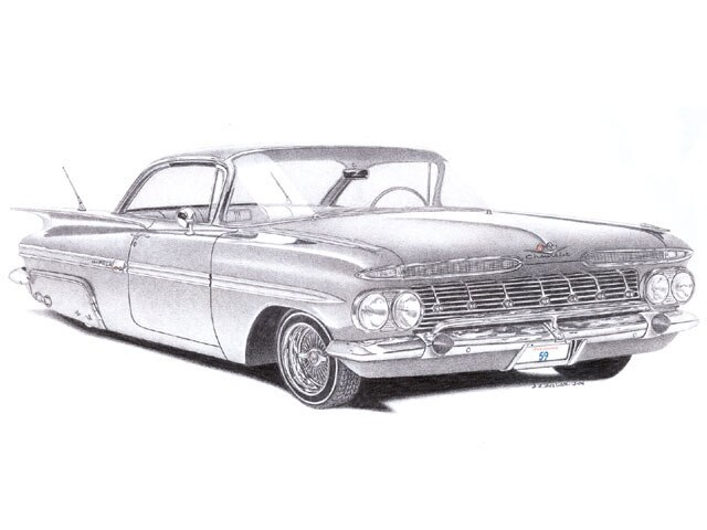 Readers Automobile Drawing - May 2008 - Lowrider Arte Magazine
