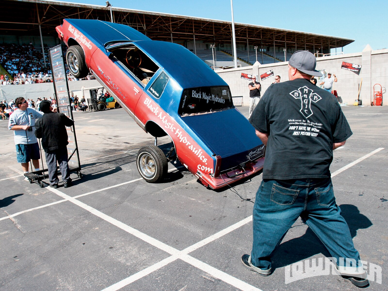 Ron from Black Magic Hydraulics was first up in the Double-Pump Hop and stayed that way in the standings.
