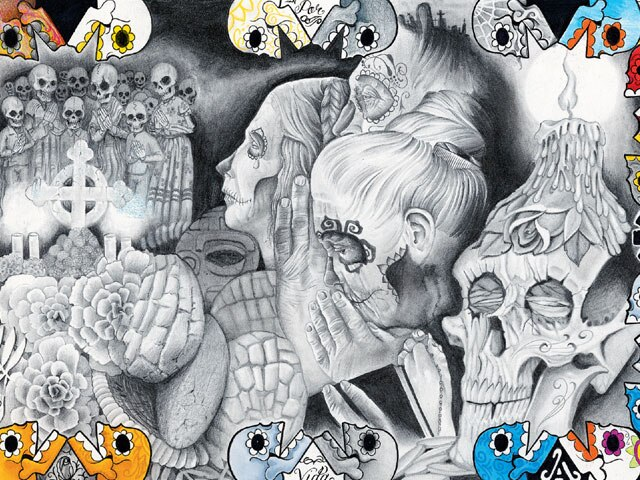 Por Vida Tattoo Studio<br> www.myspace.com/porvidatattoo<br> Artist: Tony Salgado, Clarens, Diego, Japo, Ben, Javi, El Brad Mariachi.
