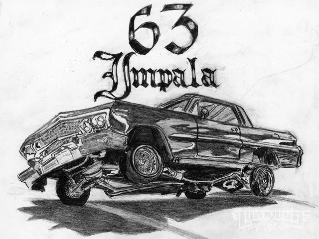 Black And White Art Work 2009 March Lowrider Arte