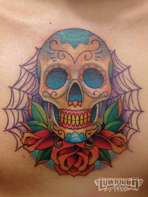 Day of the dead art el dia de los muertos lowrider for Day of the dead skull tattoo
