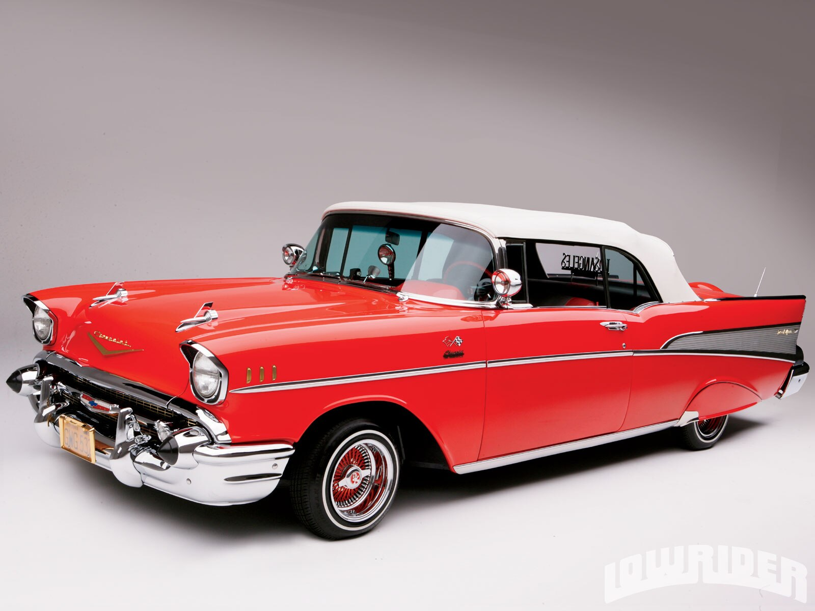 1957 chevrolet bel air convertible lowrider magazine. Black Bedroom Furniture Sets. Home Design Ideas