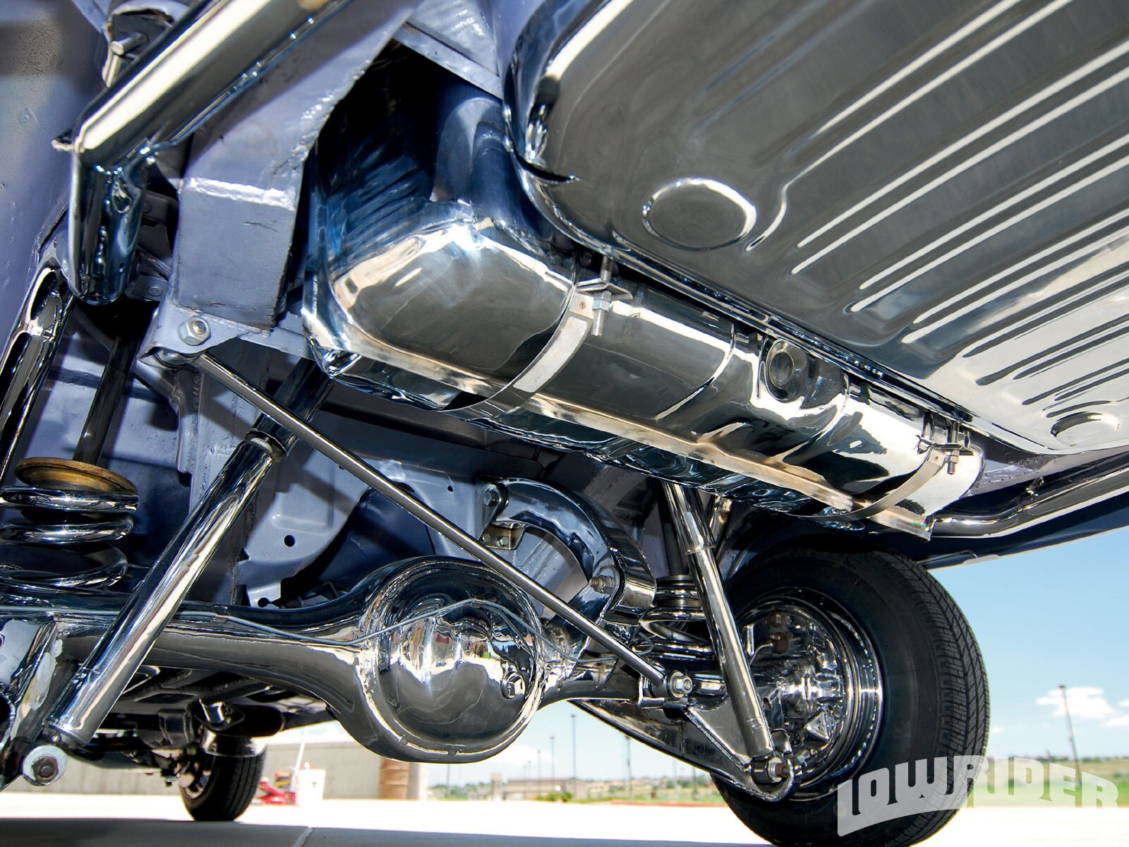 Lrmp O Chevrolet Impala Convertible Chromed Suspension Pieces on Dakota Rims