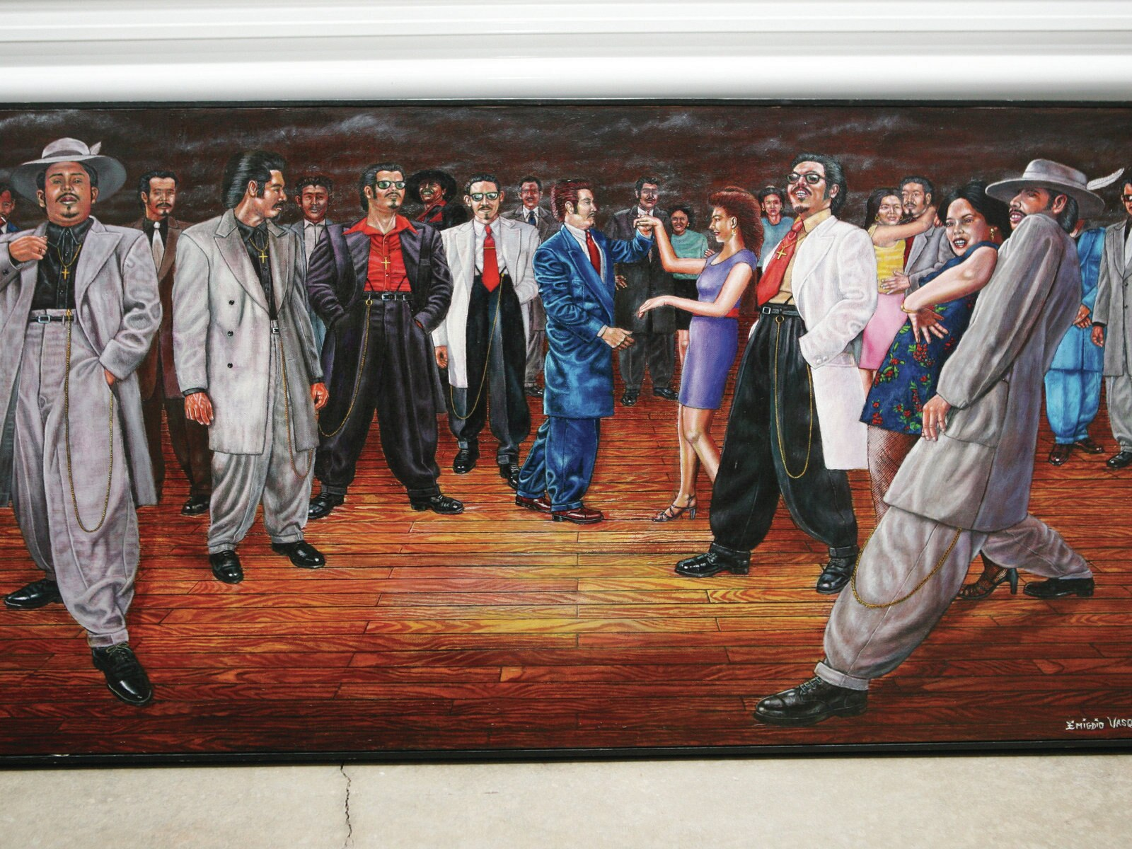 An analysis of the painting of cesar chavez tribute by the artist emigdio vazquez
