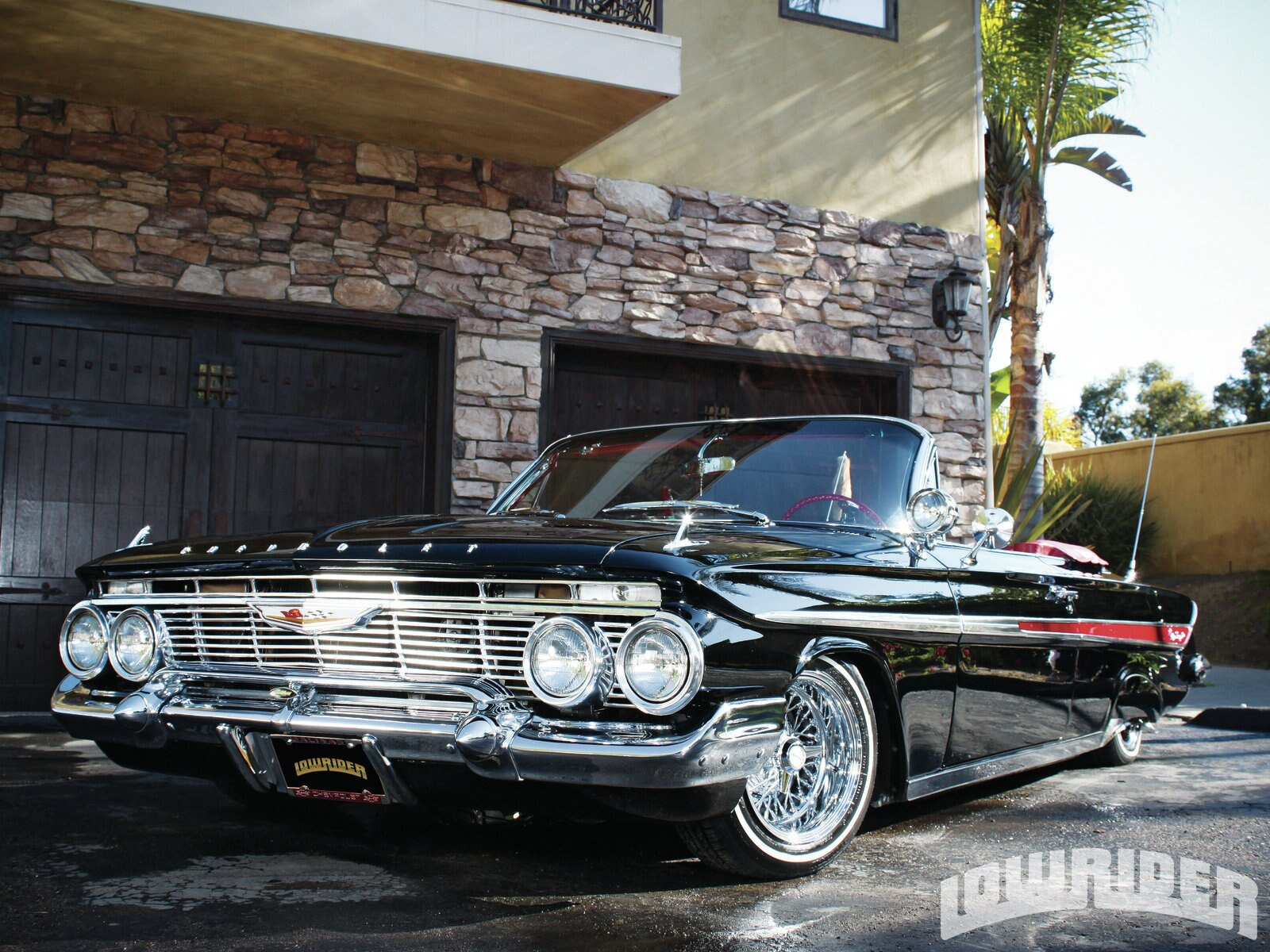 Lowrider Magazine 1961 Chevrolet Impala Ragtop Doing It