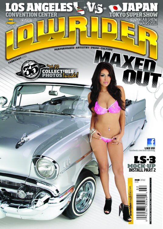 <center><strong>On The Cover</strong></br> A '57 Platinum Chevy with the Sexy & Lovely Maxed Out TK..</center>