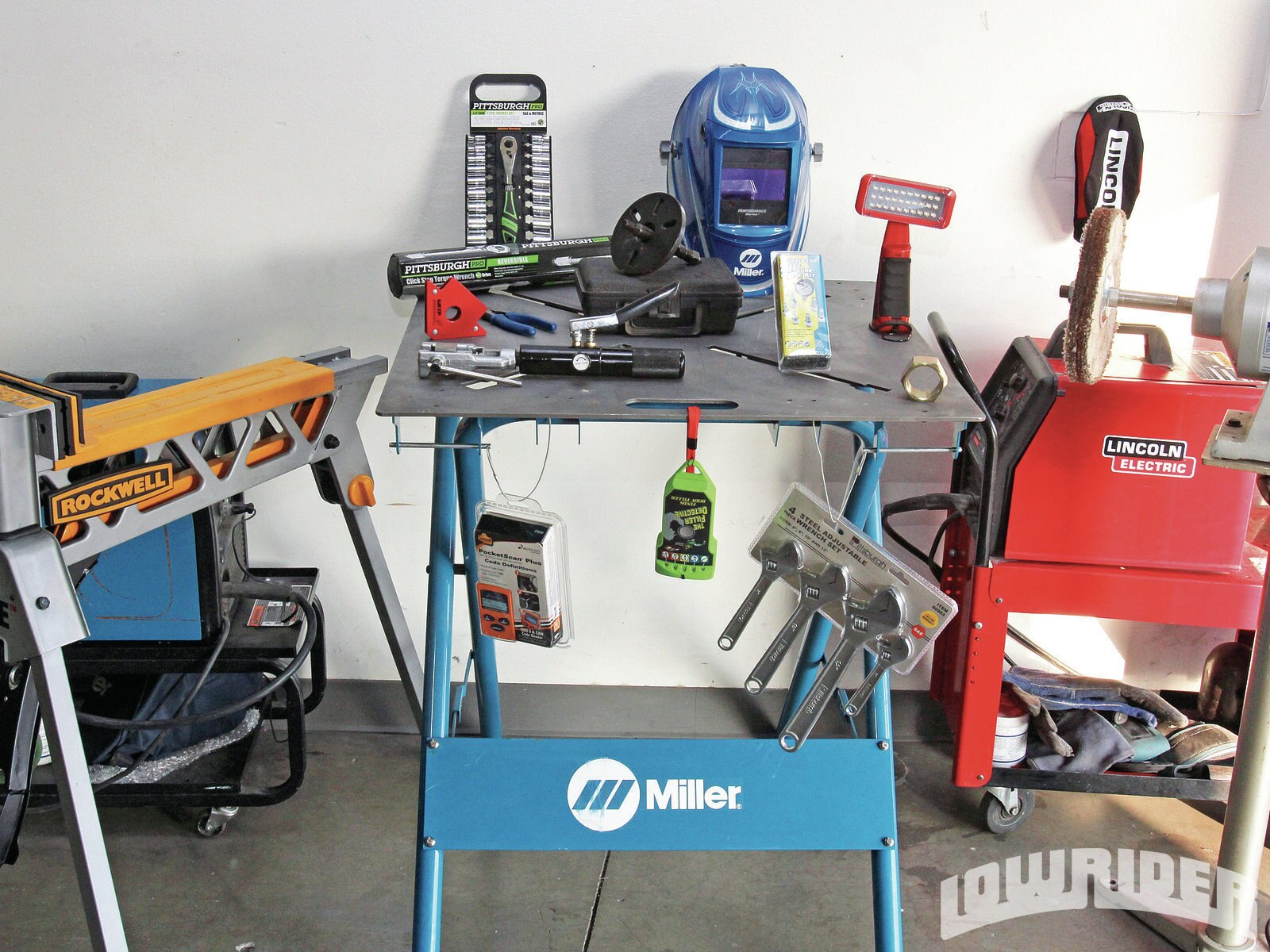 <center><strong>1.</strong> The cool tools line up.</center>