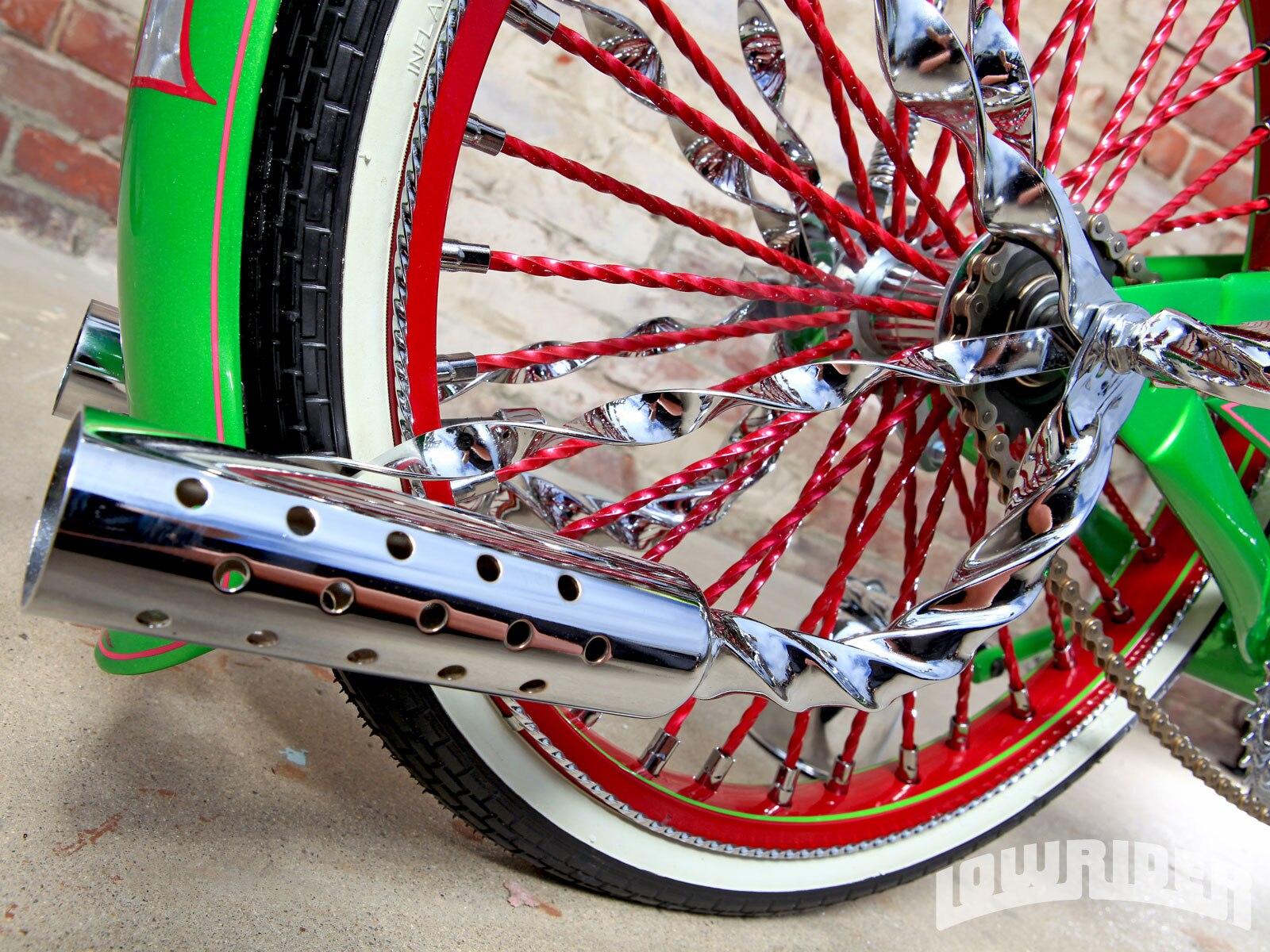 1212 Lrmp 07 O 2008 Huffy Bike Twisted Spoke Wheel Lowrider