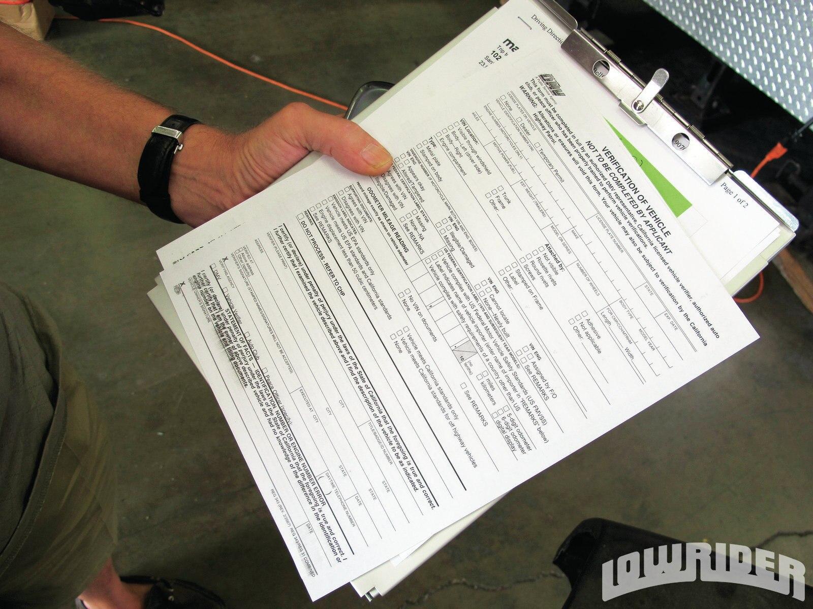 Registering a car