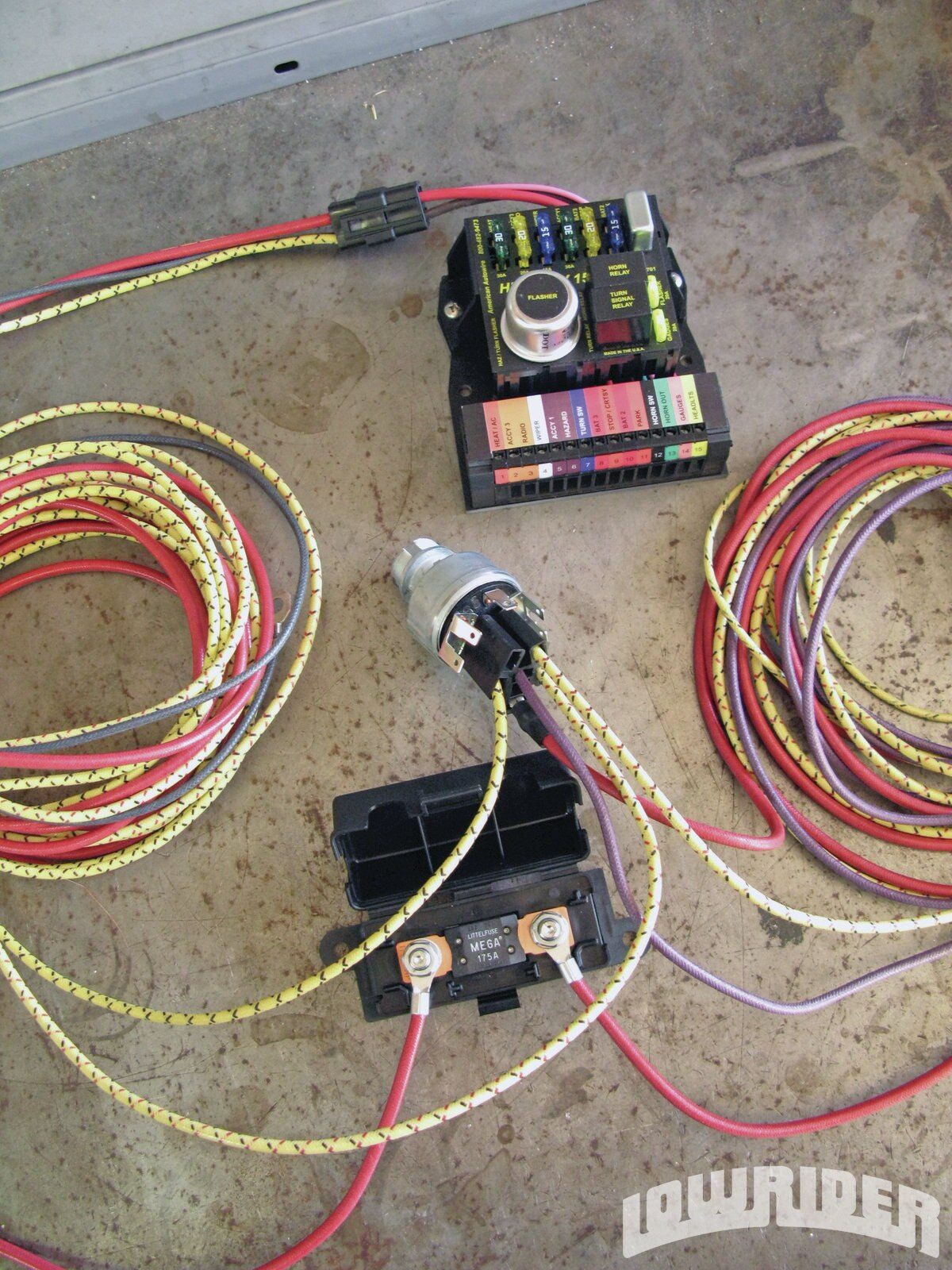 american autowire highway 15 nostalgia wiring kit lowrider magazine tech project