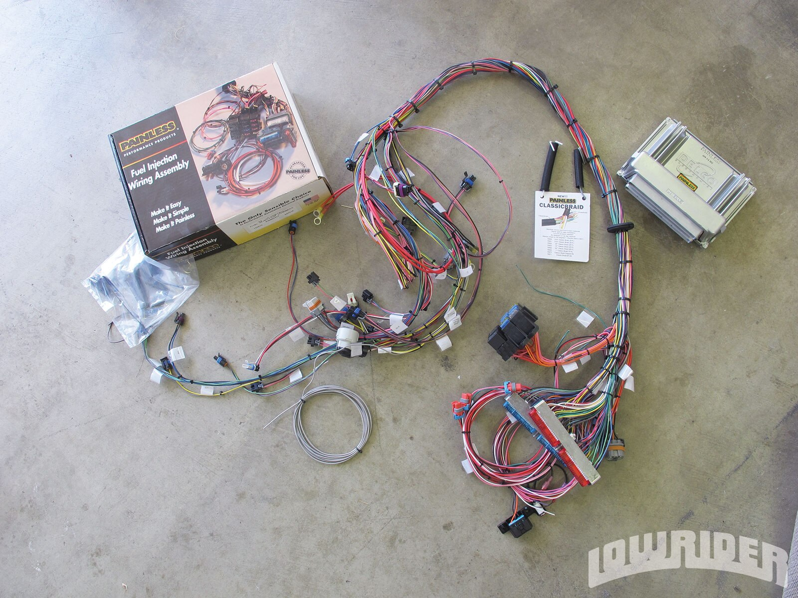 <strong>23</strong>. What made us take on our engine swap was this Painless harness kit. For about $750, you can rewire the engine and program the computer, getting you on the road ASAP.