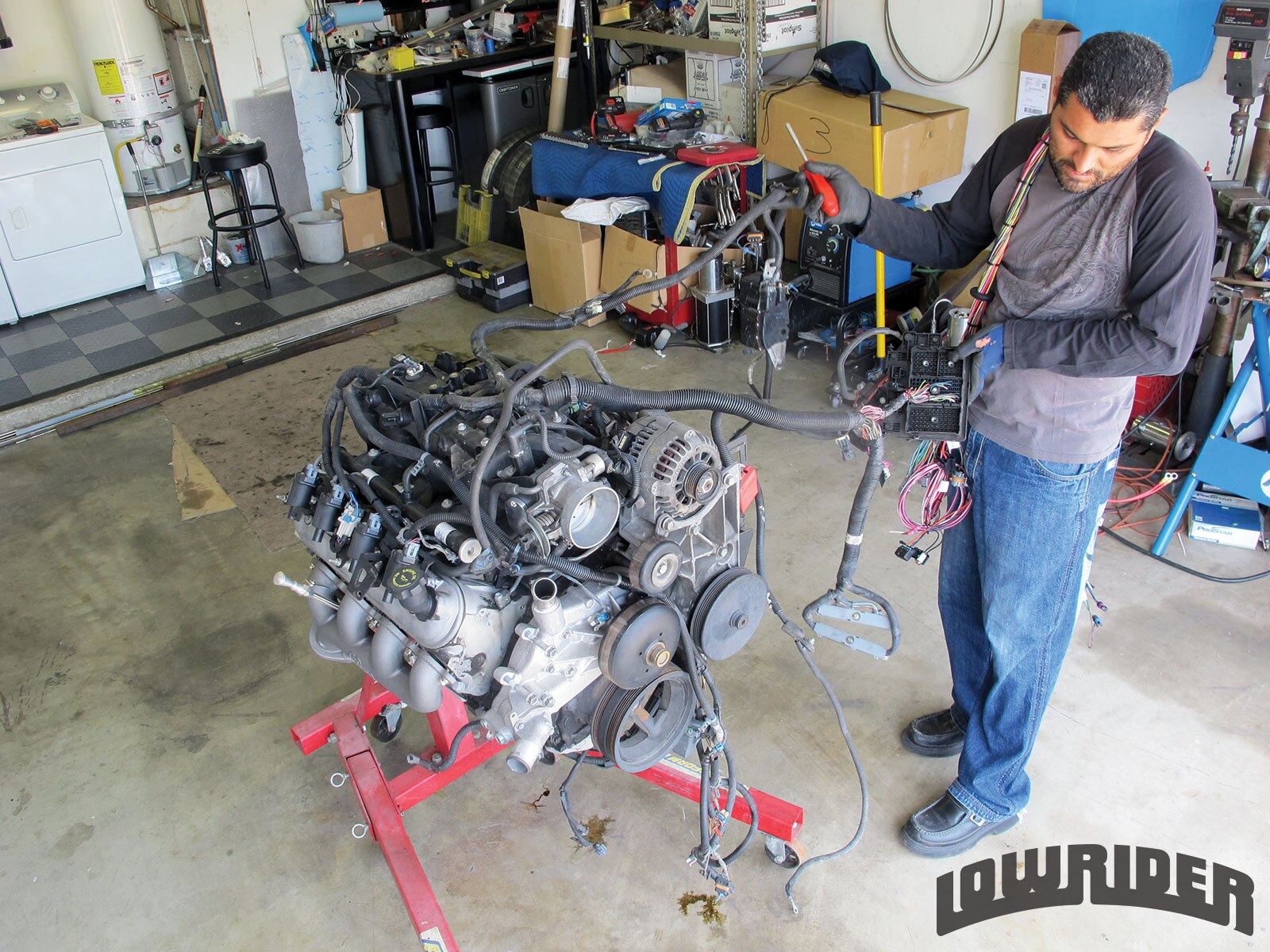 GM engine swap remove factory harness gm 5 3 lq9 engine swap lowrider magazine ls swap harness rework at fashall.co