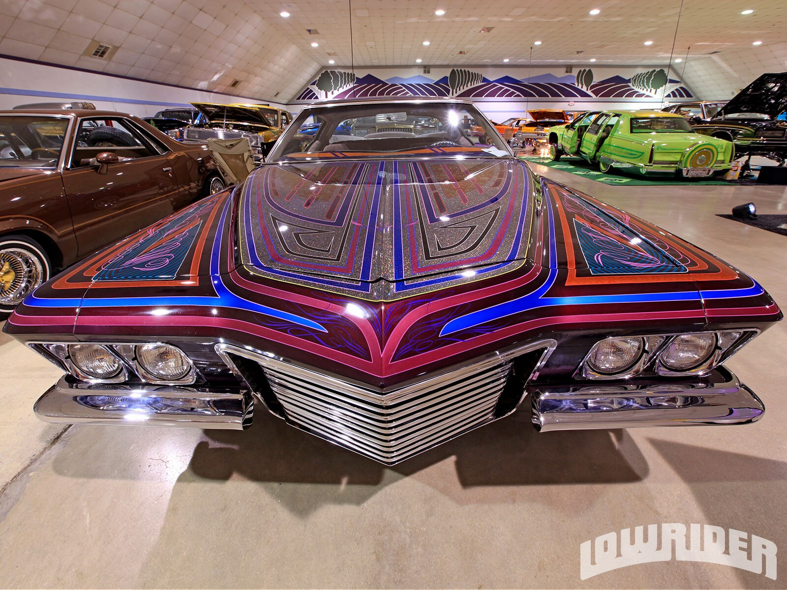 carnales-unidos-super-benefit-car-show-lowrider-front-view2