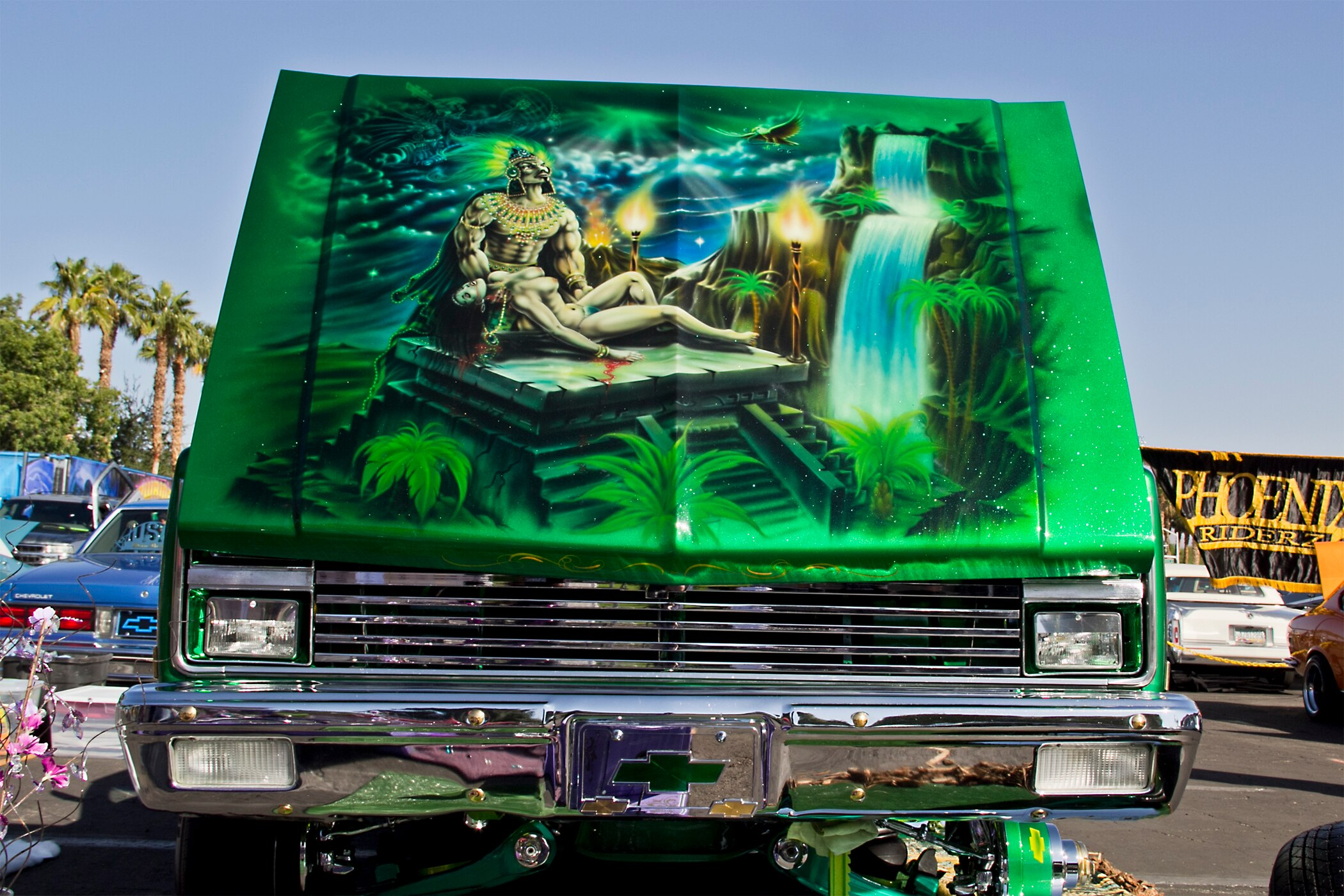 The art of the 2013 lowrider super show lowrider magazine for Airbrush car mural