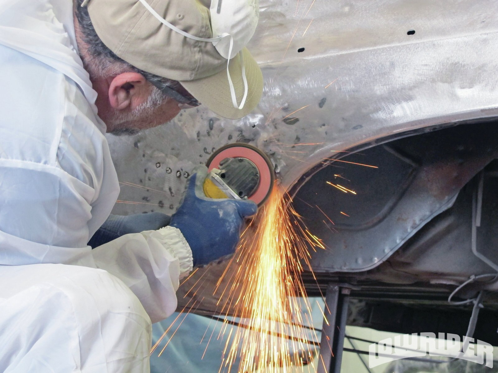 <strong>17</strong>. Jesus used a grinder to level out the welds that were done to the body.