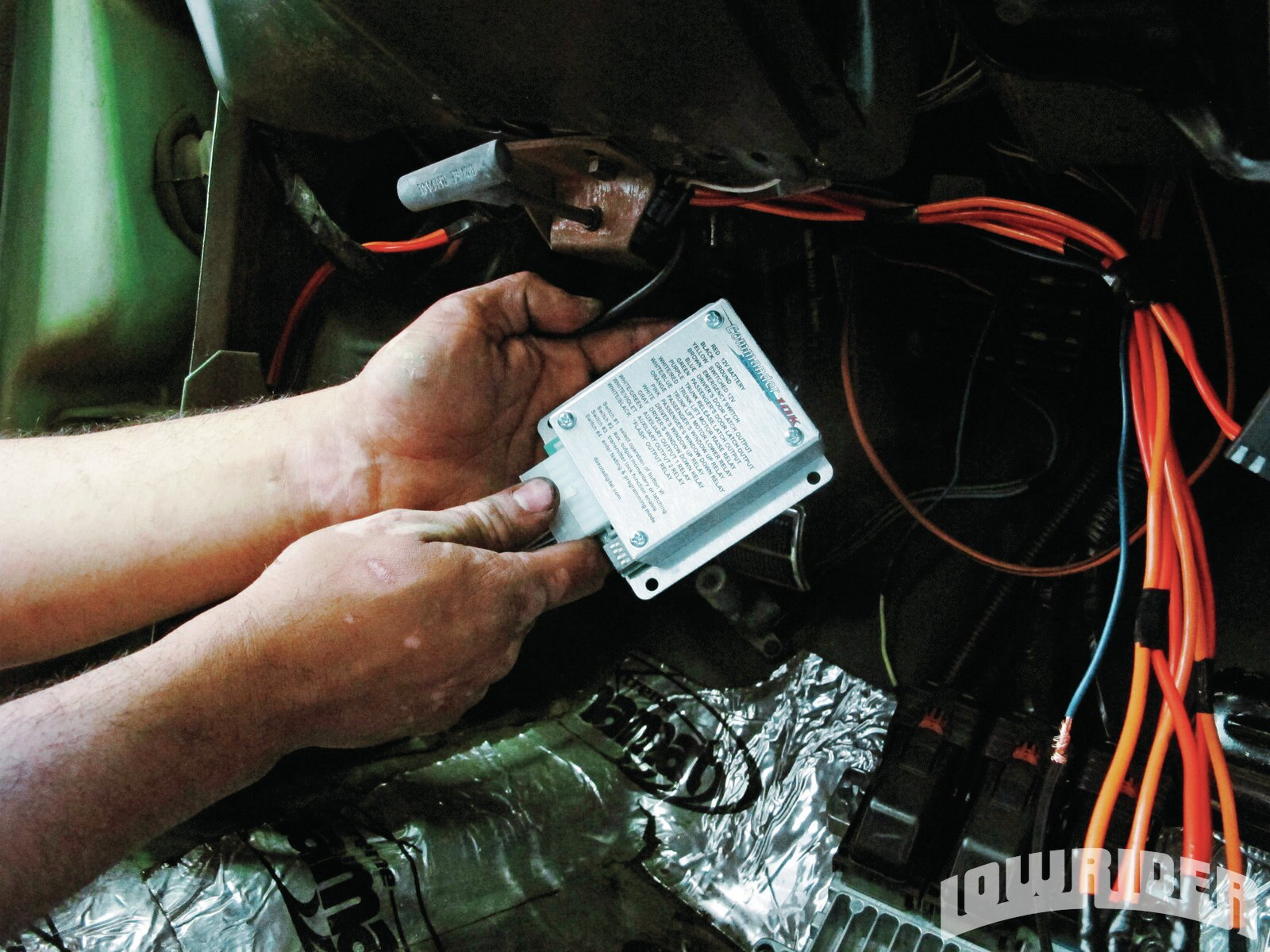 <strong>14</strong>. When it comes time to wire the programmed control box, you can read the wiring diagram on the controller itself.