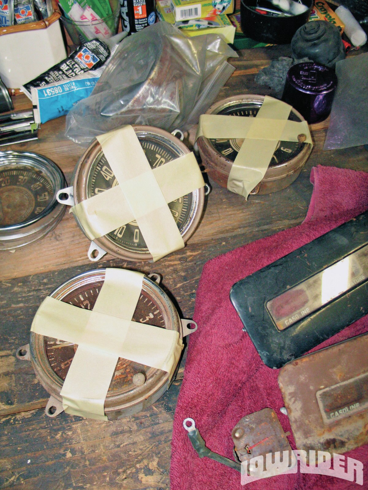 <strong>4</strong>. Classic Instruments may have done wonders with the gauges shown above, but in an attempt to not make the job even tougher than it already was, not to mention damage reusable items like the convex glass, they were individually packaged with care before being shipped off to their Custom Team for the pending retrofit.