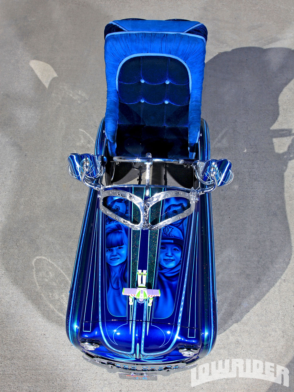 Custom Lowrider Pedal Car Aerial View on Old Pedal Cars Parts