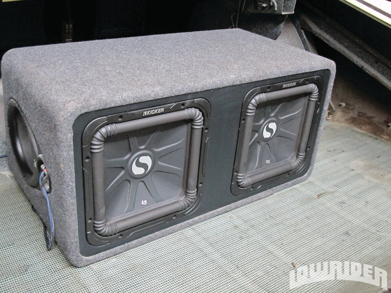 <strong>17</strong>. The last addition to the upgraded audio was to install the ground shaking Solo-Baric L3 dual 12-inch sub box.