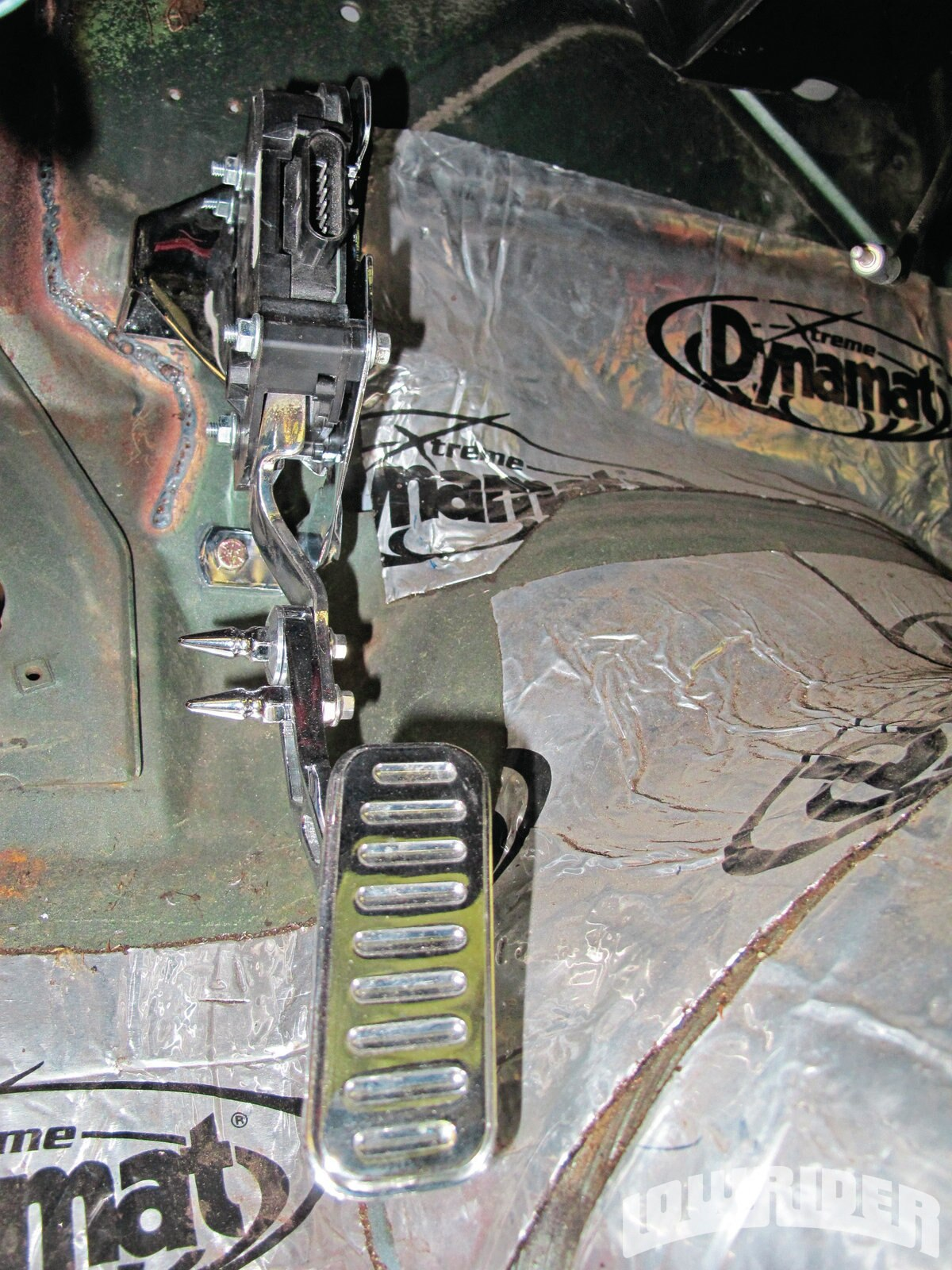<strong>15</strong>. The Lokar drive by wire gas pedal was mounted and ready to be plugged in.