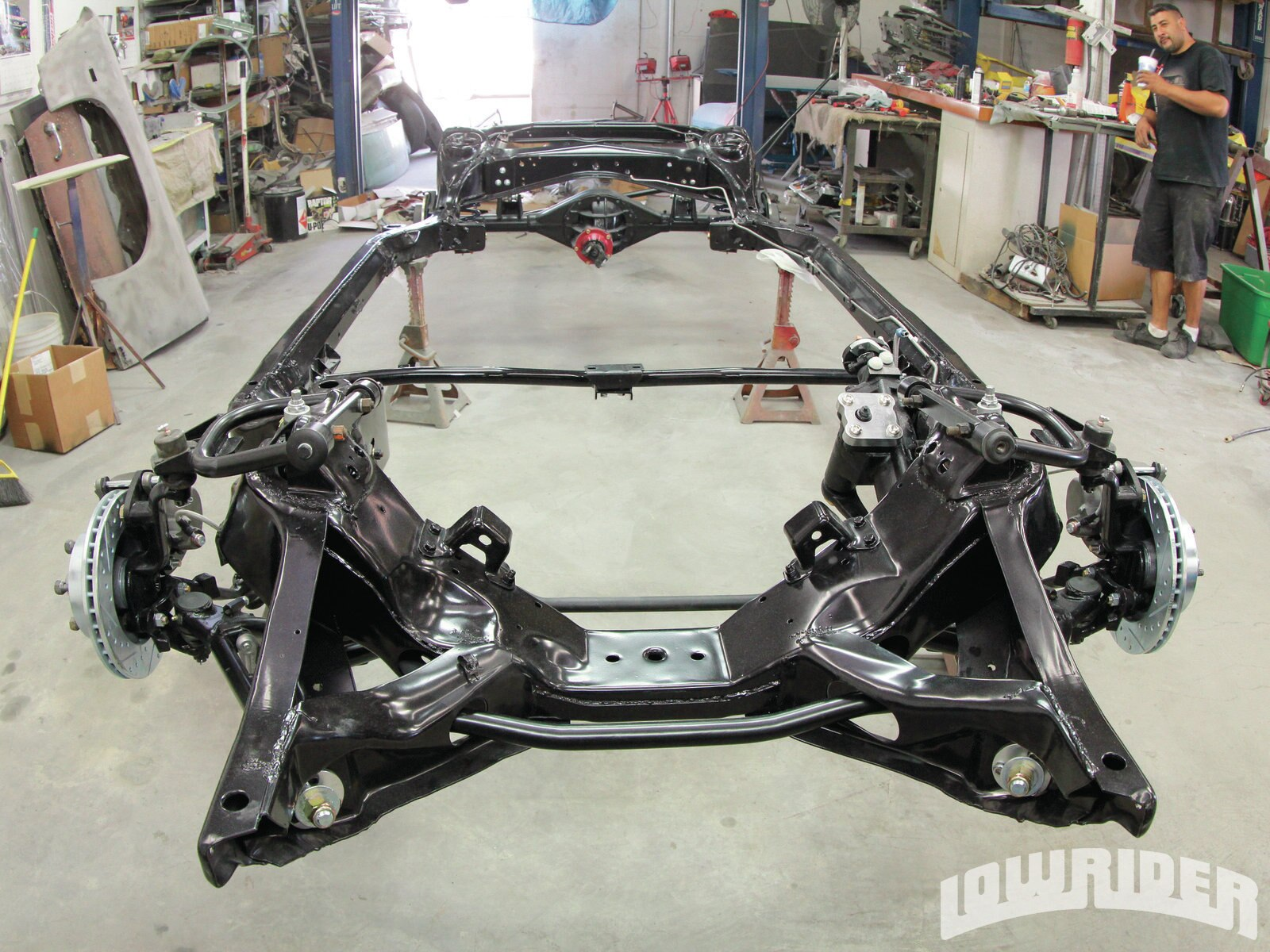 <strong>26</strong>. This frame was ready to be put back on the car.