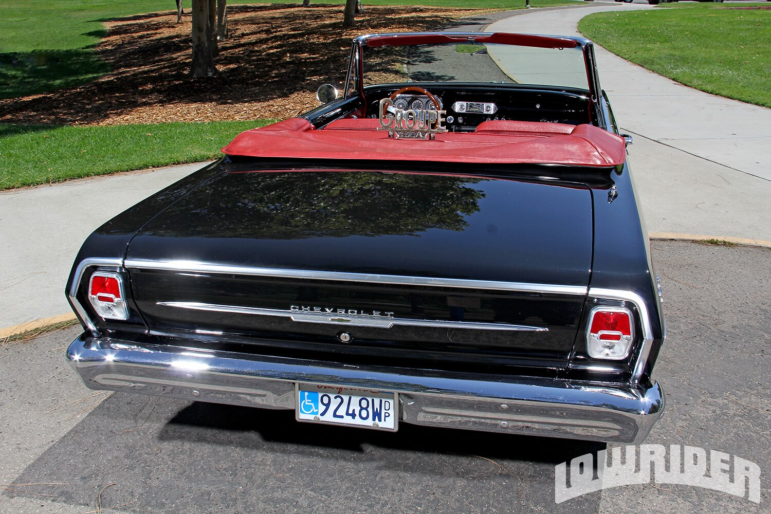 Chevrolet Nova Rear View on Rear Four Link Suspension Setup