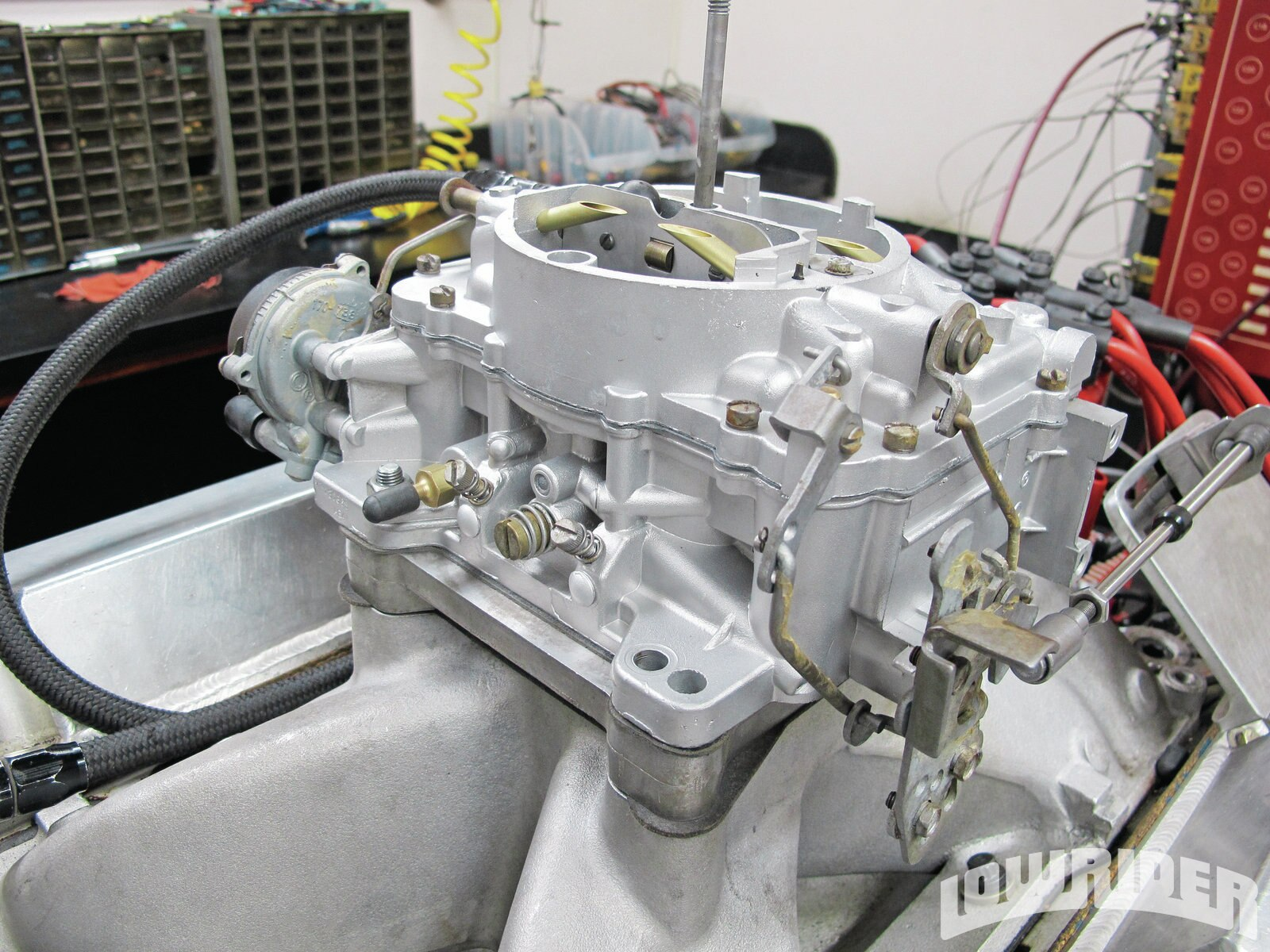 <strong>16</strong>. Once the carb was rebuilt, it was put on the dyno so it could be checked before delivery. This process is done with every carb that the Carb Shop works on.