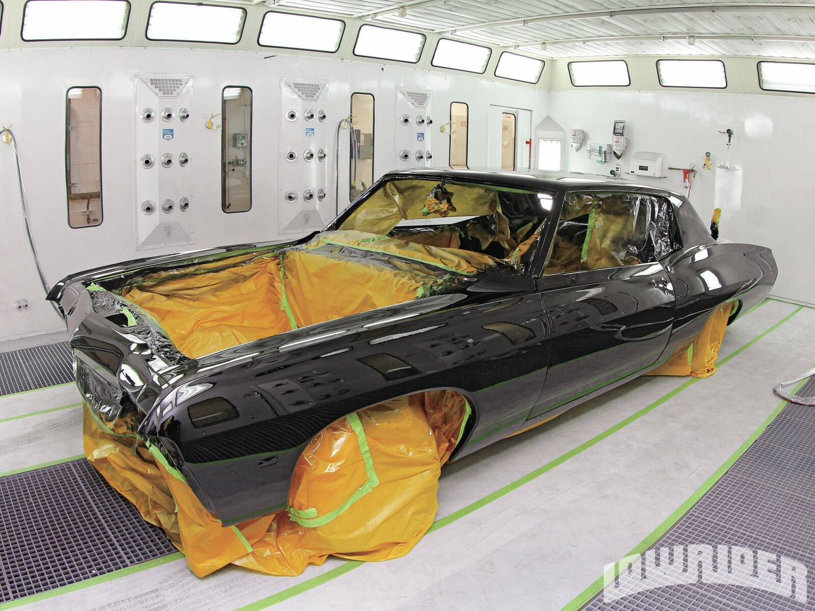 <strong>35</strong>. After several coats of Axalta's paint clear and baking the finish, this body was looking wet and deep.