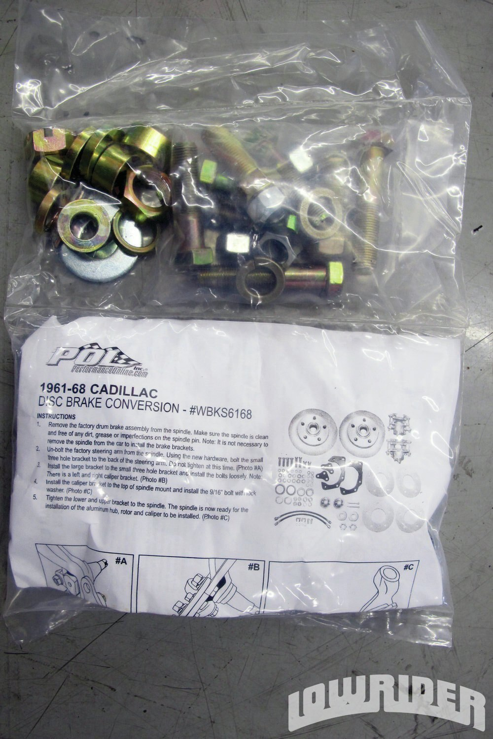 <strong>7</strong>. The kit comes with all of the hardware needed to assemble the brakes.