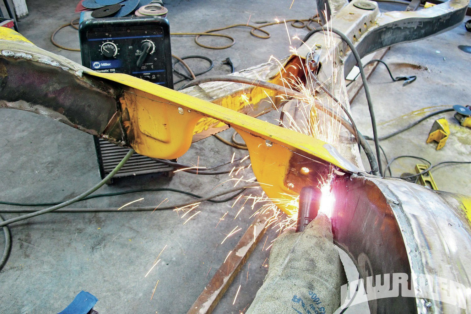 <strong>13</strong>. We used a combination of cutting tools, and started off by using a cut-off wheel, followed up with the use of a plasma cutter.
