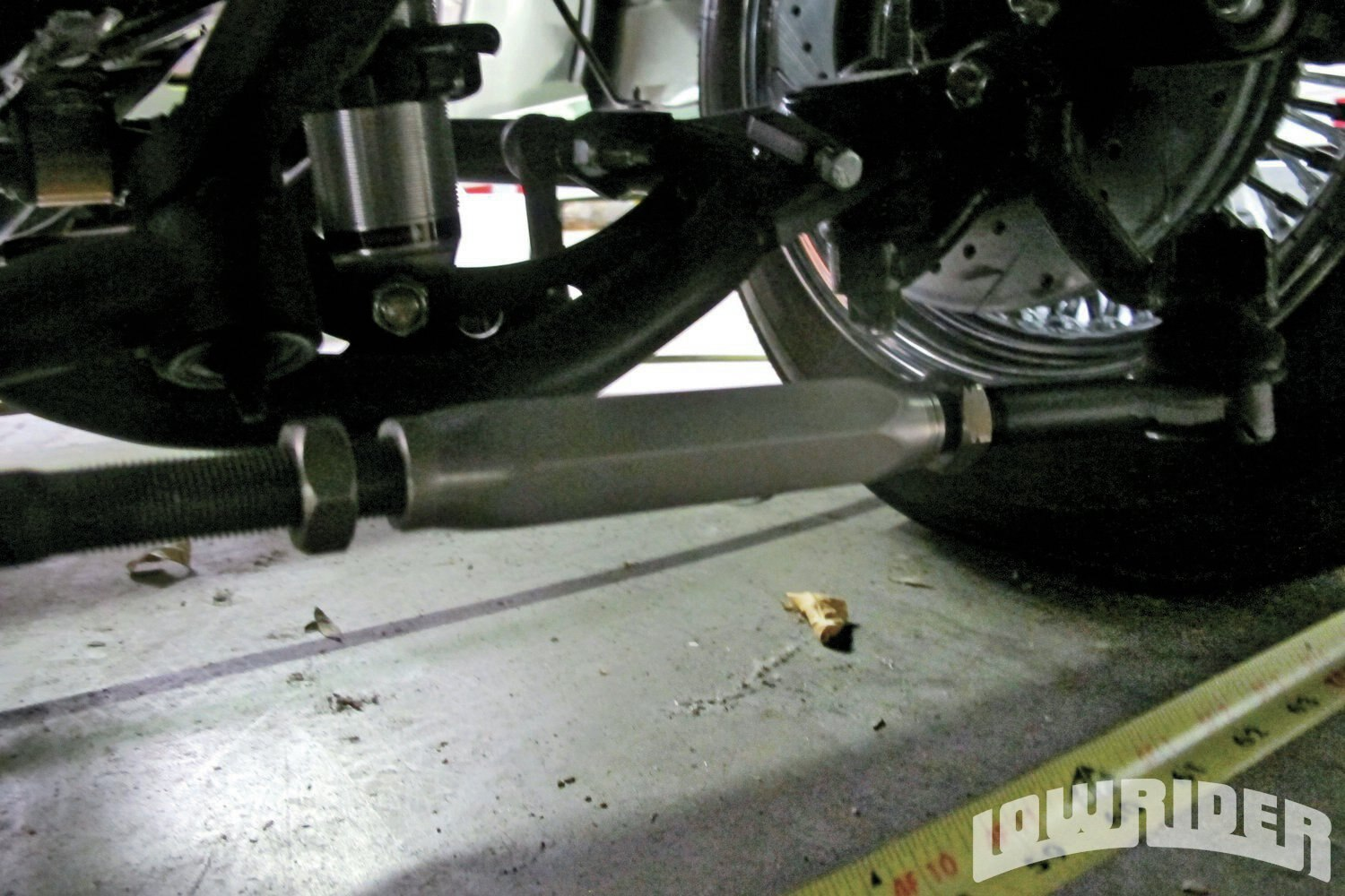 <strong>6</strong>. Once you are set up, loosen the tie rods to allow adjustment on them.