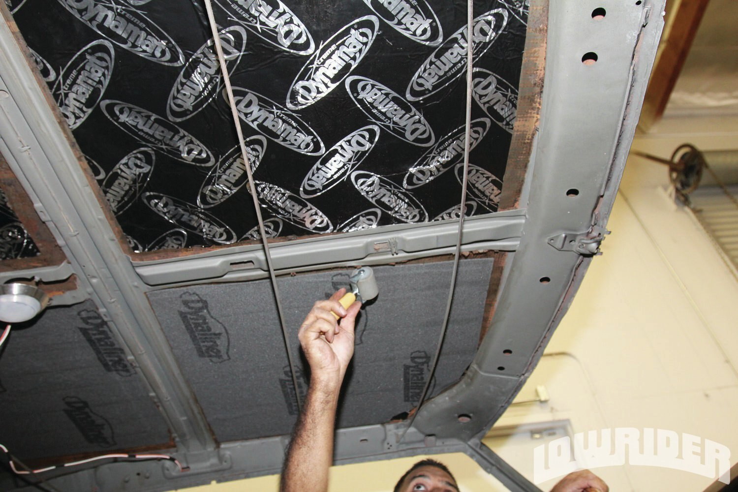 <strong>25</strong>.When installing the Dynaliner, be sure to use the Dynamat roller to get all of the air pockets out. This will keep the insulation from sagging.