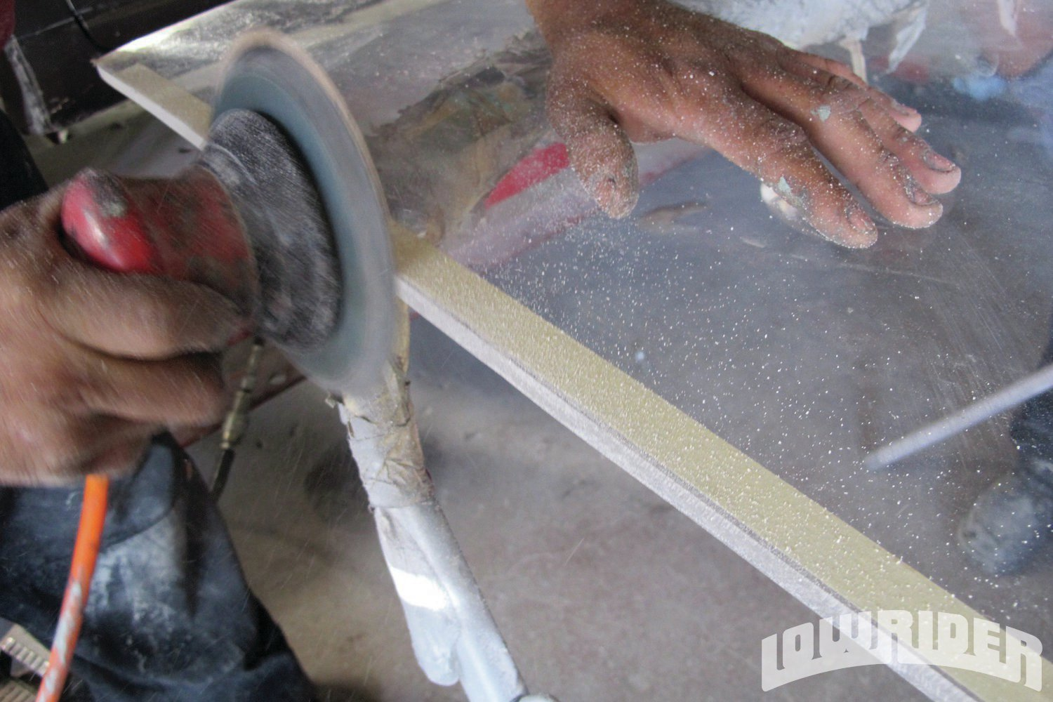 <strong>10</strong>. All the edges will be sanded down and finished off with a fine sand paper to make sure that there are no sharp edges.