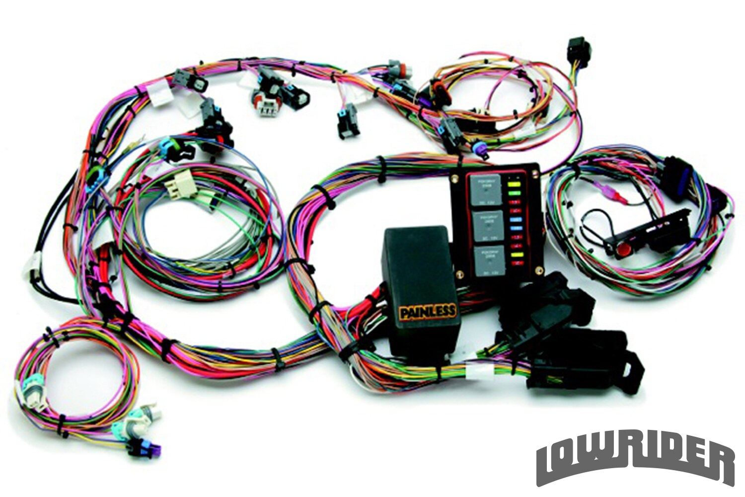 lowrider new products march 2014 painless performance LS harness lowrider new products march 2014 lowrider magazine painless ls wiring harness at soozxer.org