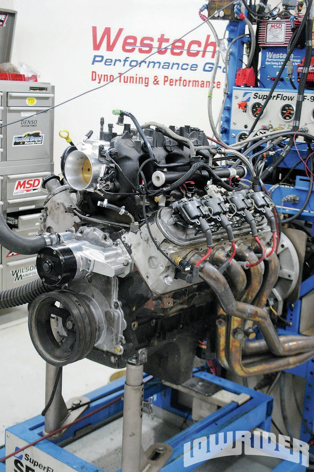 <strong>2</strong>. Like the 4.8L, the 5.3L had logged over 150,000 miles, but was still running strong. Equipped as the 4.8L, the larger 5.3L produced 344 hp at 5,100 rpm and 379 lb-ft at 4,300 rpm. The 5.3L offered only slightly more peak power but a significant increase in torque. Using the same heads, cam and intake, the 5.3L produced peak power and torque at a lower rpm than the smaller 4.8L.