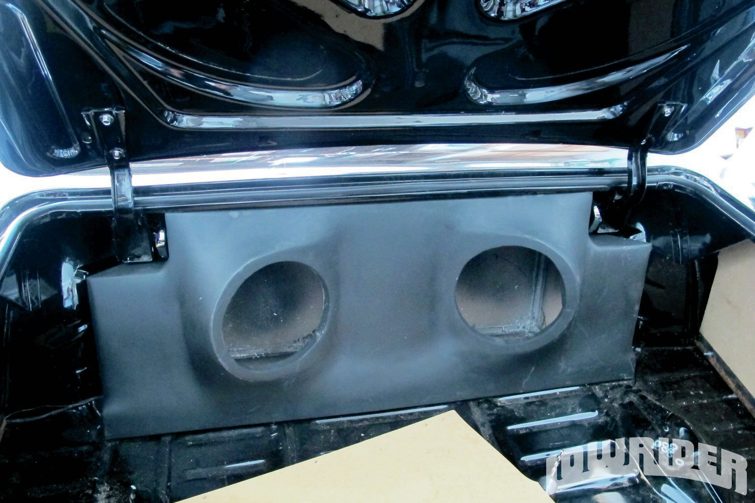 <strong>6</strong>. The audio box was built and will be sent out for final paint, once everything is mocked in place.