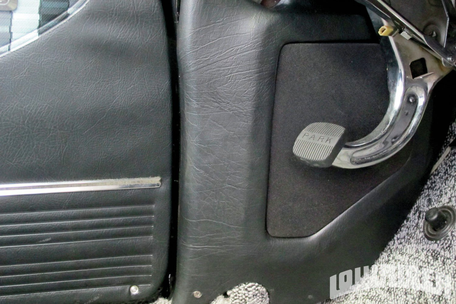 <strong>13</strong>. The custom panels blended into the car so they could be seen and not noticed.