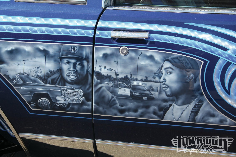 Las vegas super show lowrider arte magazine for Airbrush car mural