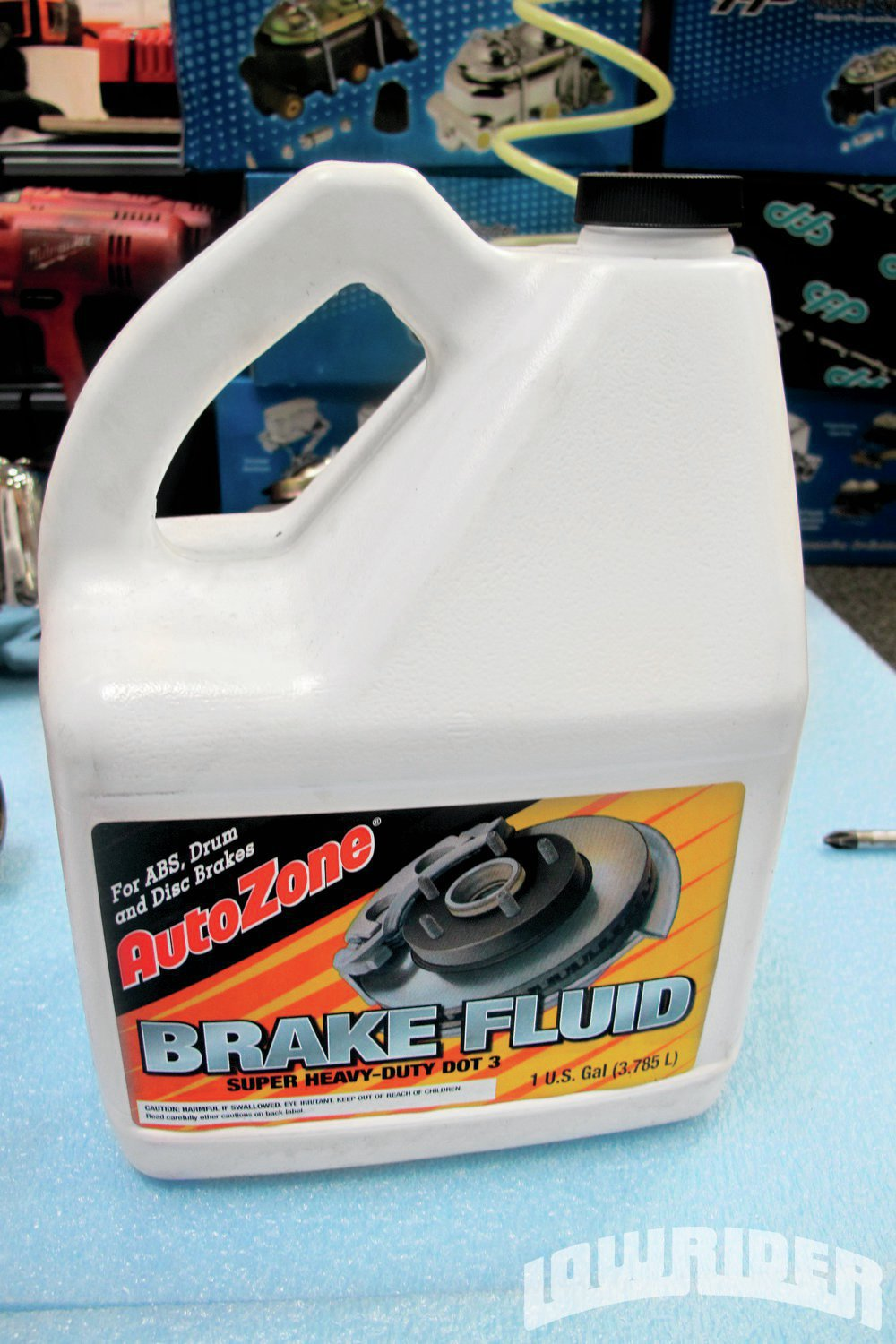 <strong>8</strong>. CPP recommended that we use DOT 3 brake fluid for the braking system on our vehicle.