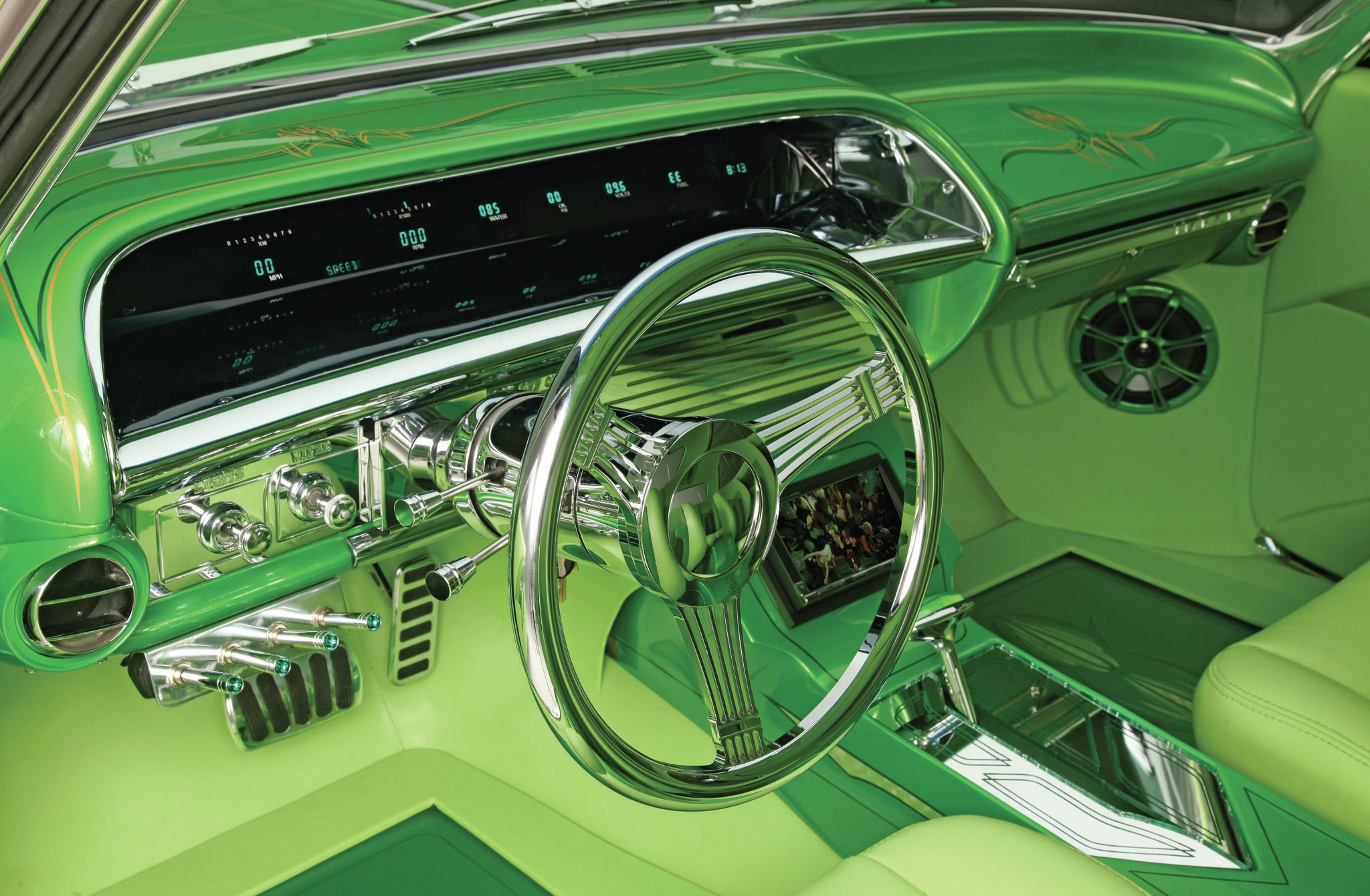 1964 chevrolet impala lime green machine. Black Bedroom Furniture Sets. Home Design Ideas