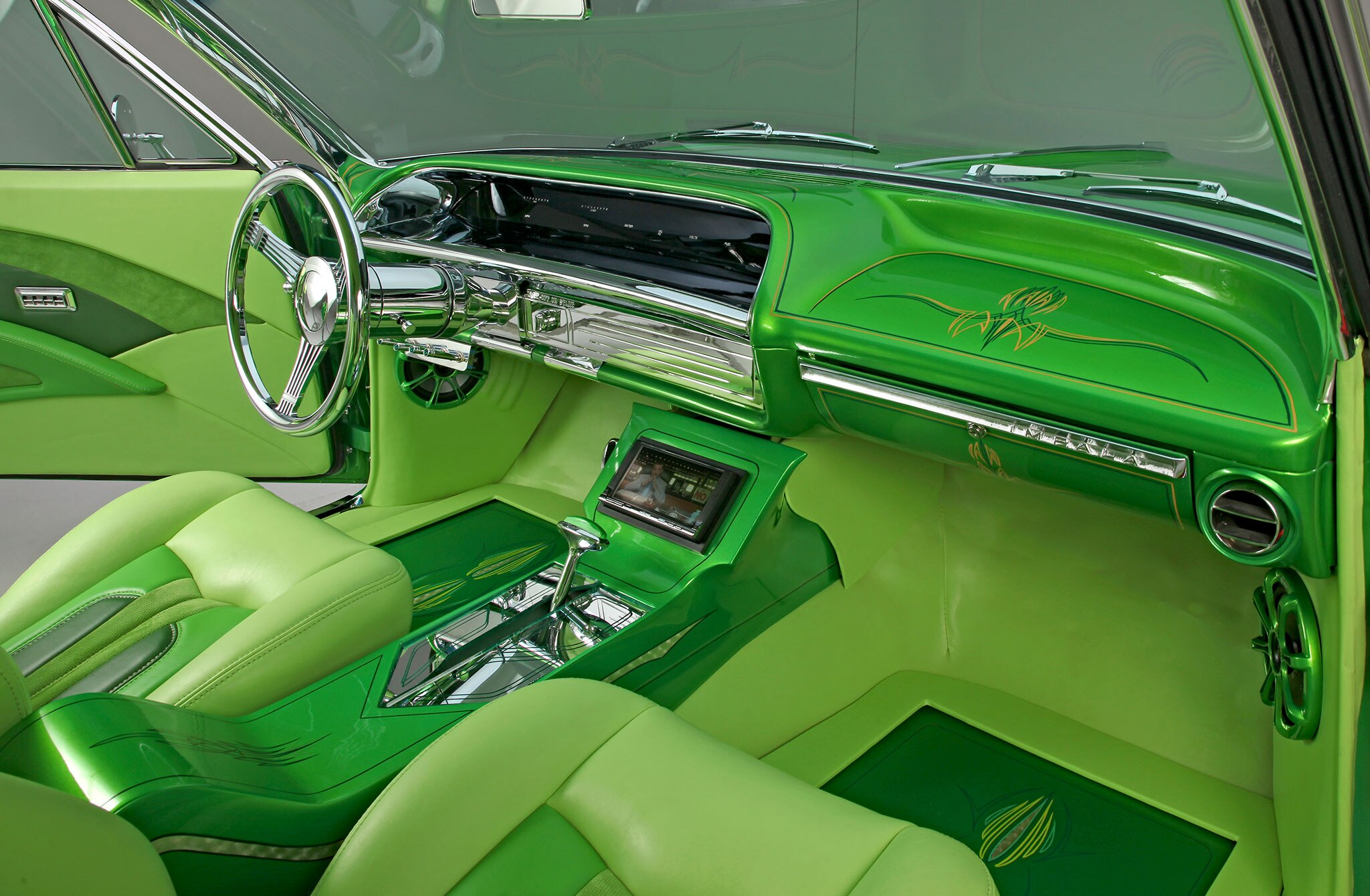 1964 Chevrolet Impala Lime Green Machine