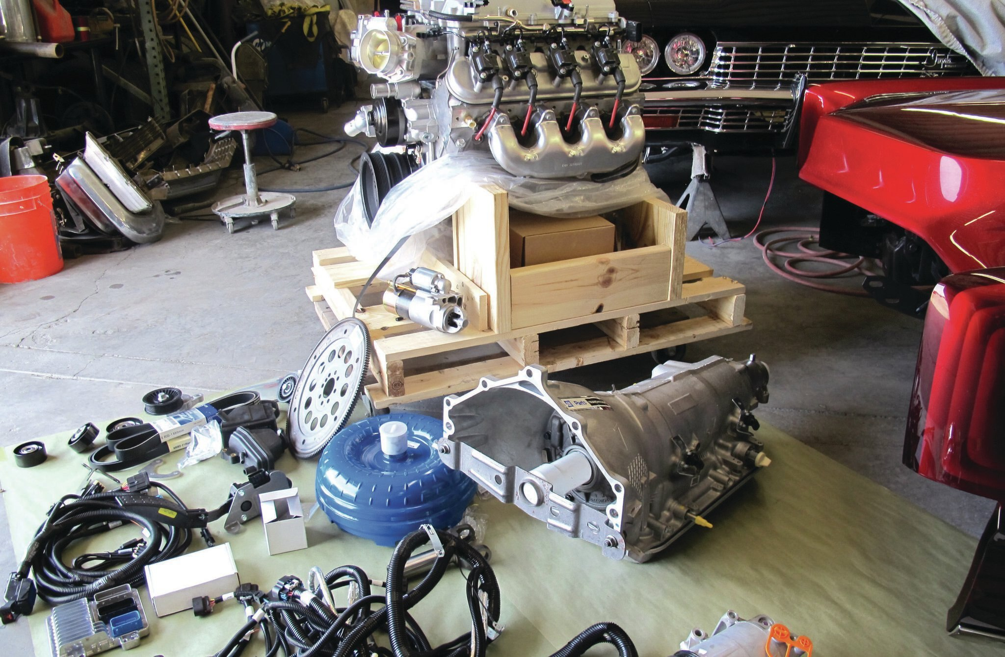 Chevrolet performance lsa series crate engine and trans for Rebuilt motors and transmissions